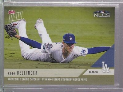 2018 Topps NOW MLB 898 Cody Bellinger Incredible Diving Catch in 10th Inning