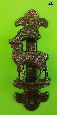 Solid Brass Red Deer Door Knocker Brass Pin Hunting outdoors cabin