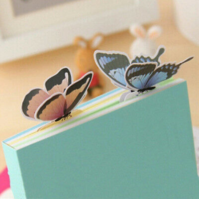 Set of 5 Butterfly Bookmarks Cartoon Book Marks Paper Clip Student School G