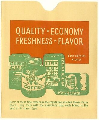 WWII Clover Farm Coffee Paper Ration Book Holder