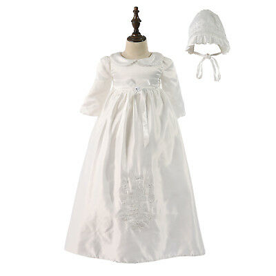 ae2cdfedf Tradition Baby Girls Embroidery Long Christening Dress Bonnet 0 3 6 9 12  Months