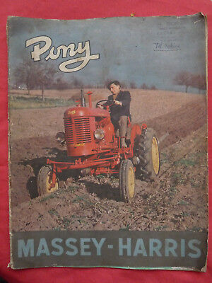 brochure catalogue LE tracteur PONY et ses instruments portés MASSEY HARRIS 1953