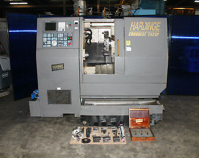 "21"" Swing x 14"" Center Hardinge T42SP CNC Lathe Turning Center Turret Tailstock"