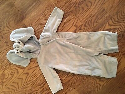 Pottery barn elephant Halloween costume 0-6 month Infant baby
