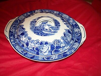 Enoch Wood English Scenery Covered Dish