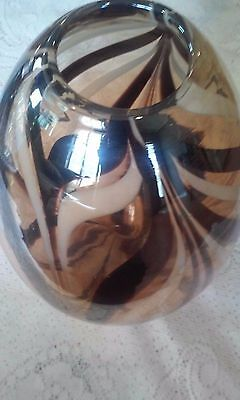 Elegant Hand Blown Glass Vase