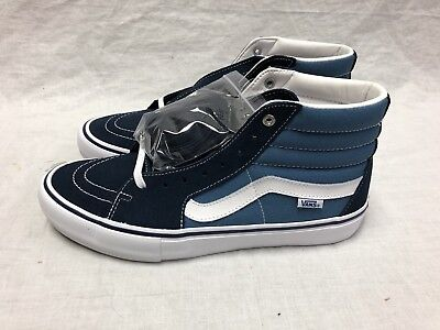 88be9c76047788 VANS SK8-HI PRO Brand New Navy Blue White Sizes 8 To 12 Suede Skate ...