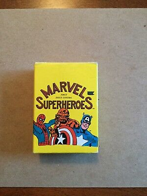 1984 Marvel Superheros First Issue Covers Complete Set In Box. NrMt-Mt