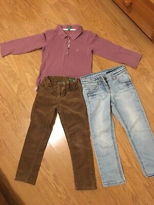 Benetton Jeans girl Trouser 3-4 Years And Top