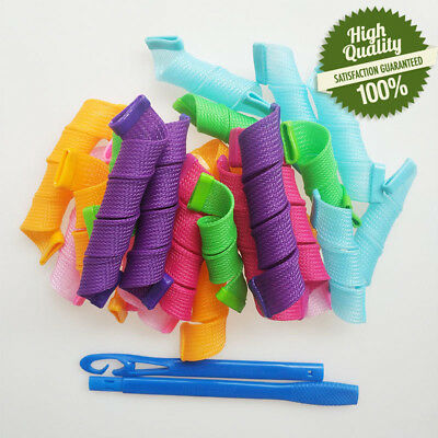 New 18 Pcs Magic Hair Curlers Curl Formers Spiral Ringlets Leverage Rollers Tool