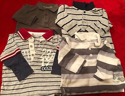 Set Of 4 Boys Rugby Tops Polo Shirts - 6 Months - In Very Good Condition - Next