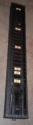 Vintage SIMPLEX Time Card Slot Holder. Wall Mountable.  Our #3.
