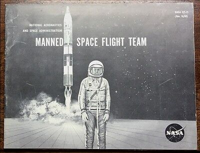 1963 *manned Space Flight Team*  Nasa Released Booklet Ep-11 Project Mercury