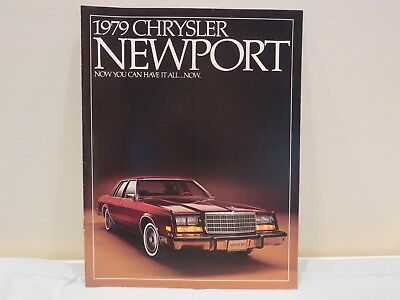 Vintage 1979 Chrysler Newport Sales Brochure