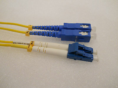 5 Meter SC–LC Fiber Optic Cable, Single Mode Duplex Patch Cord, G657A B.I.F.