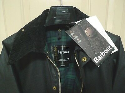 Barbour-  A104 Bedale  Waxed Cotton Jacket -Nwt- Black- Made @ England- 38