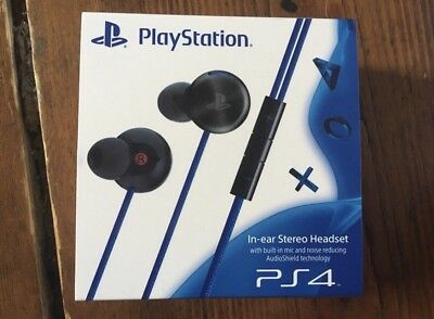 Sony Ps4 Playstation 4 In Ear Stereo Headset Schwarz Limited Edition  Neuware