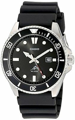 Casio Mens Wrist Watch MDV106-1A Black 44mm Analog Diver Quartz New From Japan