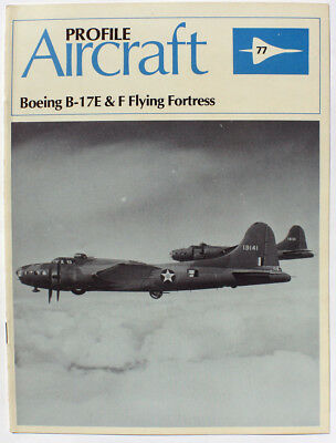 Profile Aircraft Boeing B-17E & F Flying Fortress History 1982  FUNDRAISER New