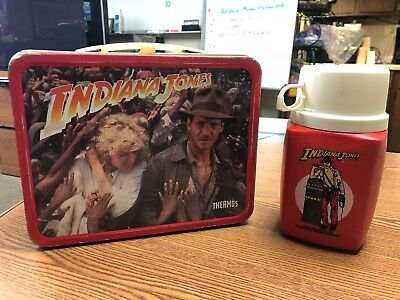 Indiana Jones and the Temple of Doom Tin Lunchbox and thermos