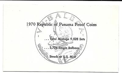 1970 Panama 6 Monete Unico Pagina C O.a.documenti Set Coins: Ancient Other Ancient Coins