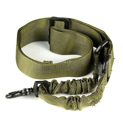 Single 1 One Point Sling Black Bungee Adjustable Tactical -BLACK & TAN & ODGREEN