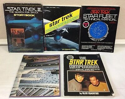 Vintage Star Trek Fleet Book Bundle Lot Construction Technical Manual Lost Years