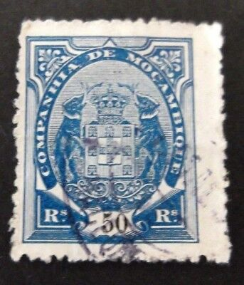 Mozambique-1872-50R Blue-Used
