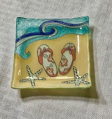Flip Flops On Beach Candy/ Jewelry Dish
