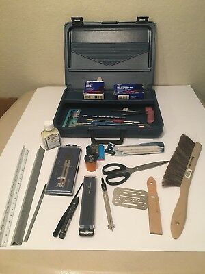 Student Drafting Kit Draftsmen Case Alvin Tools Huge Lot
