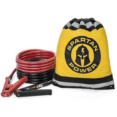 0 Gauge 10 Foot Heavy Duty Jumper Cables by Spartan Power, Made in the USA