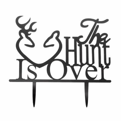 cake toppers wedding supplies home furniture diy page 100 39th Anniversary Cake 2x wedding anniversary cake topper the hunt is over black q8f3 2