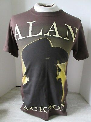 Vtg Alan Jackson Brown T-Shirt Anvil Size Small