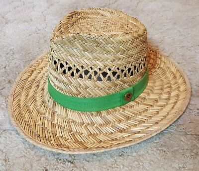 ca7ad3e0091 JOHN DEERE STRAW Hat with Green Band -  13.00
