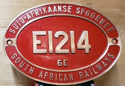 SAR South African Railway Locomotive Number Plate