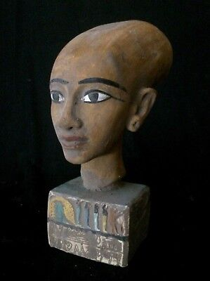 EGYPTIAN ANTIQUES ANCIENT EGYPT Head QUEEN Meritaten AKHENATEN STATUE 1356 BC