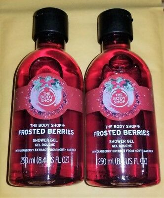 The BODY Shop FROSTED BERRIES Wash GEL x2 Full Size NEW LOT of 2