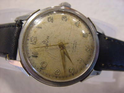 Vintage large antique Art Deco / WWII World War II MILITARY era ORVIN mens watch