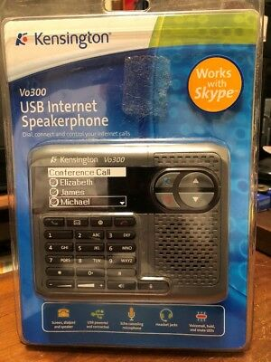 Kensington Vo300 USB USB Internet Speakerphone Skype Model K33378US