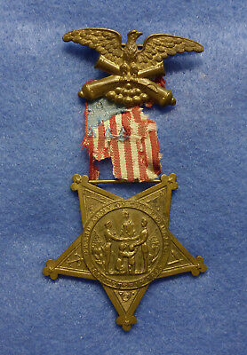 G.A.R. GAR Civil War Veterans Badge Medal - Identified Andersonville POW