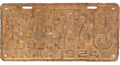1924 New Mexico License Plate #14-779 No Reserve