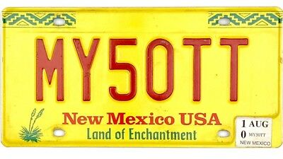2010 New Mexico Vanity License Plate #MY50TT No Reserve