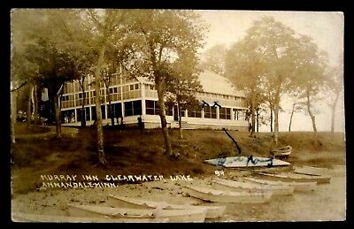 RPPC ANNANDALE,MN Murray Inn, Clearwater Lake Wright County Minnesota REAL PHOTO