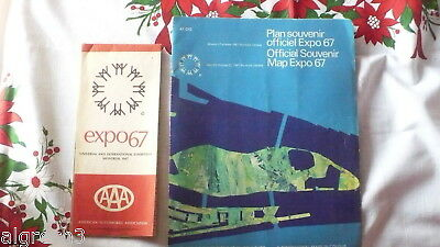 Expo 67 Montreal Official Souvenir Map and AAA Map