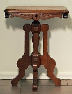 Antique Victorian Eastlake Walnut Side Table ~ Excellent Condition