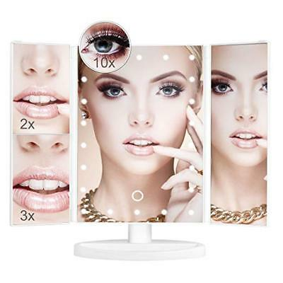 Makeup Mirror 10X/3X/2X/1X Magnification Touch Screen Control Mirror LED Lights