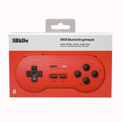 8Bitdo SN30 GP Bluetooth Controller GamePad Manette pour Switch PC Android Rouge