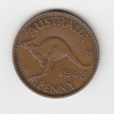 1943B Australia Kgvi Penny - Very Nice Collectable Coin