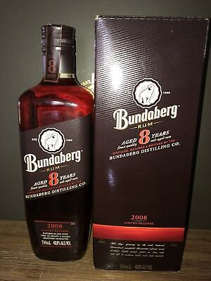 Bundaberg Rum. Aged 8 Years. 2008 Limited Release. Boxed.