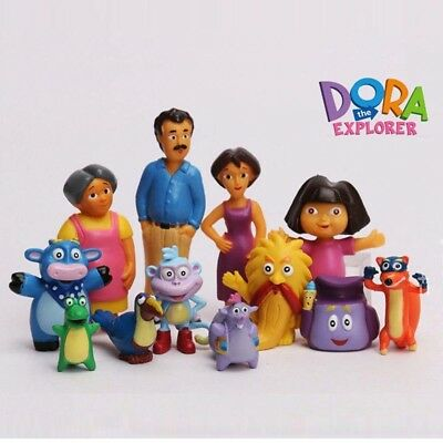 Dora the Explorer 12 PCS Movie Cartoon Action Figure Toys Cake Toppers Gifts US
